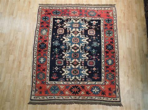 kazakhstan rugs 6 squarish navy blue kazakh rug wool carpet ebay