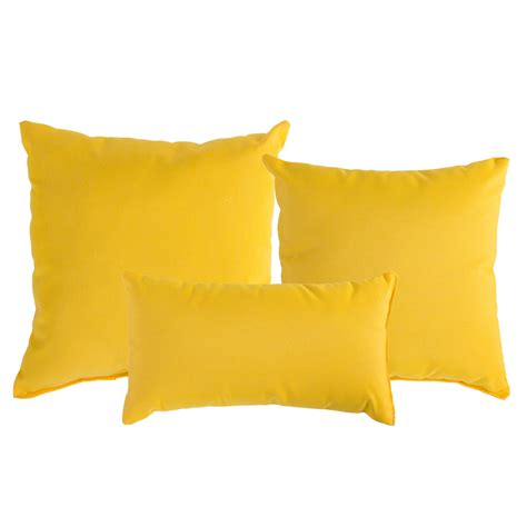 Patio Cushions Yellow Sunflower Yellow Sunbrella Outdoor Throw Pillow Dfohome