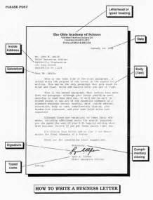 Business Letter Label Parts Optional Parts Of A Business Letter Business Letter
