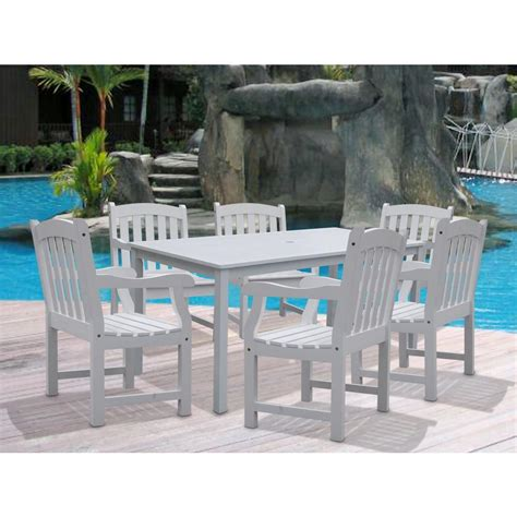 vifah bradley acacia white 7 patio dining set with