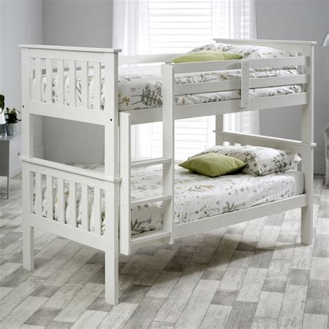 White Pine Bunk Beds Wooden Bunk Bed In White Pine