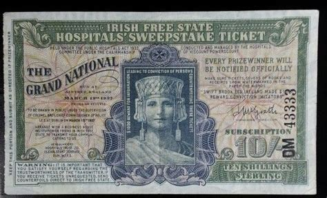 Irish Free State Hospitals Sweepstake Ticket - the 35 best images about vintage lottery tickets on pinterest racehorse vintage and