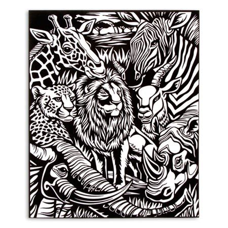 velvet coloring posters velvet coloring poster jungle pets 16 x 20 inches