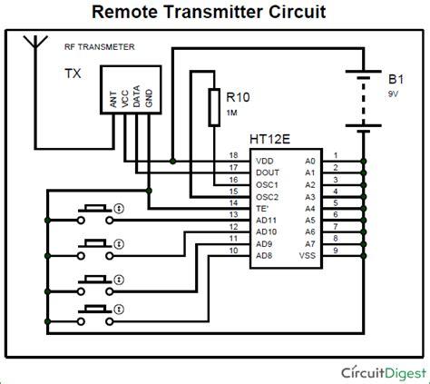 Wifi Receiver Circuit Diagram Circuit And Schematics Diagram Rf Transmitter And Receiver Circuit Diagram