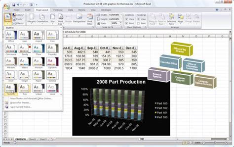 theme exles xlsx applying a design theme to an excel 2007 workbook dummies