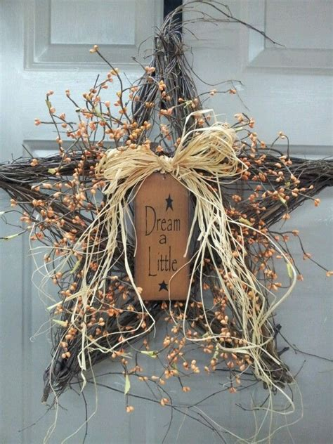 stqr twig wreath with berries primitive and farmhouse decorating pinterest berries
