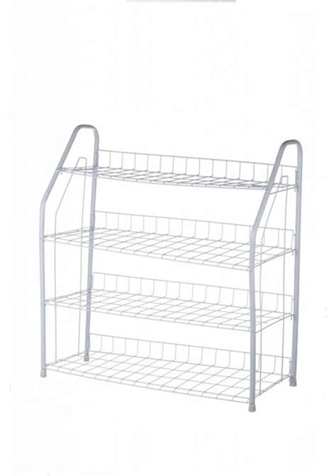 4 Tier Wire Shoe Rack by Vonhaus 4 Tier White Wire Shoe Rack Holds Up To 16 Pairs
