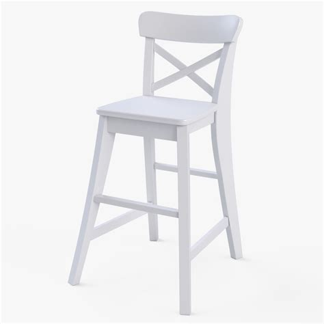 ingolf bench 3d model junior chair ikea ingolf