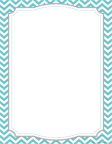 free chevron border template for word turquoise chevron border quotes