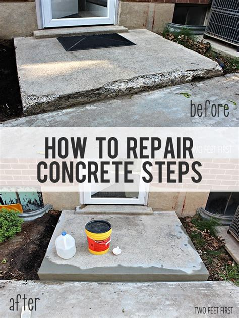 how to fix a sinking front porch fixing chipped concrete steps