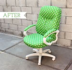 How To Make Desk Chair Covers Chic And Colorful Desk Chair Makeovers For Diy