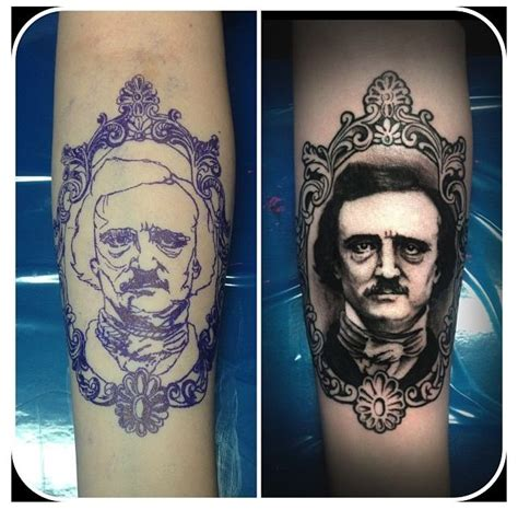 edgar allan poe tattoo gorgeous edgar allen poe the filigreed