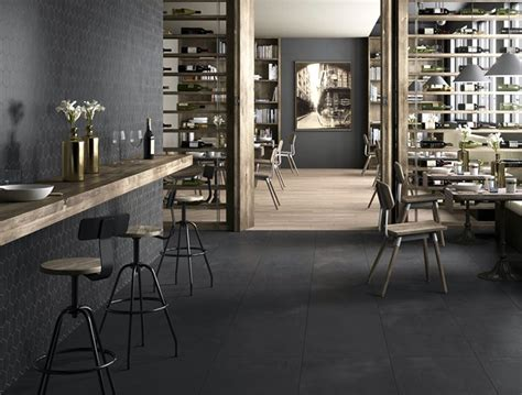 Grey Kitchens Ideas by Porcelain Floor Tiles With Concrete Effect Interiorzine