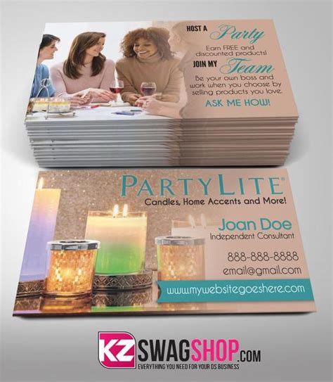 partylite business card template partylite business cards style 2 kz swag shop
