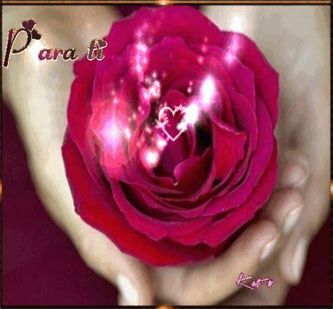 imagenes gif imagenes animadas de rosas con corazones