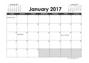 Agenda Calendar Template by 2017 Excel Calendar Planner Free Printable Templates