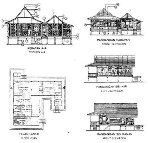 layout plan difference a plan layout of a traditional kung house of the perlis