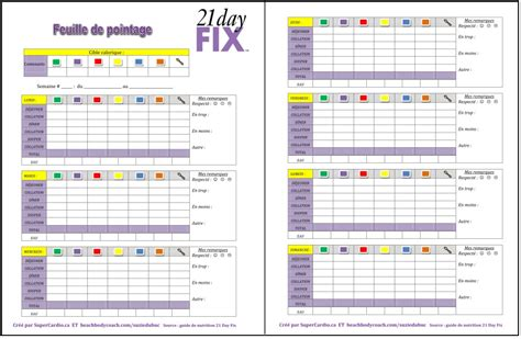 21 Day Fix Worksheets by 21 Day Fix Calendar Printable