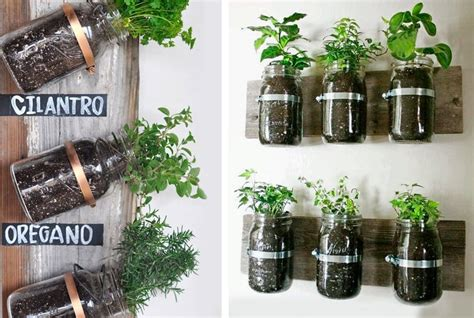 vasi per erbe aromatiche 30 idee originali per riutilizzare i barattoli di vetro
