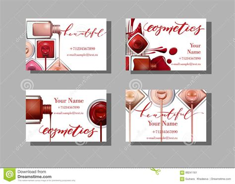 Composite Card Makeup Artist Template by Makeup Artist Business Card Vector Template With Makeup