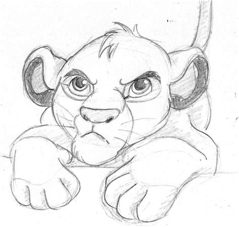 disney sketchbook disney sketch simba the king by helena