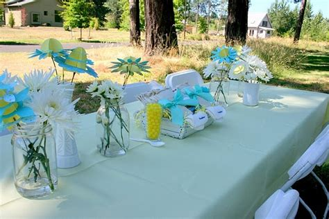 baby shower outdoor decorations baby showers showers and yellow baby showers on
