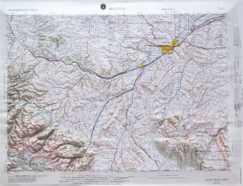 raised relief map  billings montana usgs