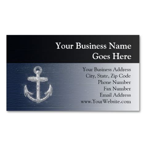 Nautical Business Card Template by Vintage Nautical Anchor Business Card Templates Travel