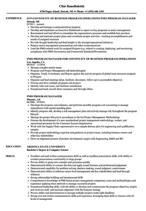 pmo resume sles pmo resume sle furniture sales associate sle resume