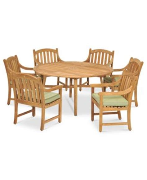 Macys Patio Dining Sets Princeton Teak Outdoor Patio Furniture Dining Sets