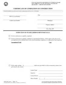 Certificate Of Completion Template Construction by Best Photos Of Construction Completion Form Sle