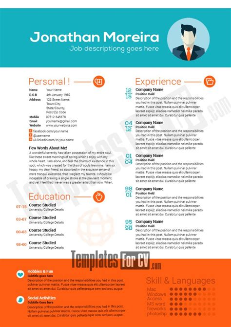Professional Resume Template by 82 Best Template Cv Infografica Gratis Images On