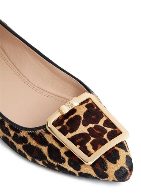 animal print shoes flats lyst burch grayson leopard print flats