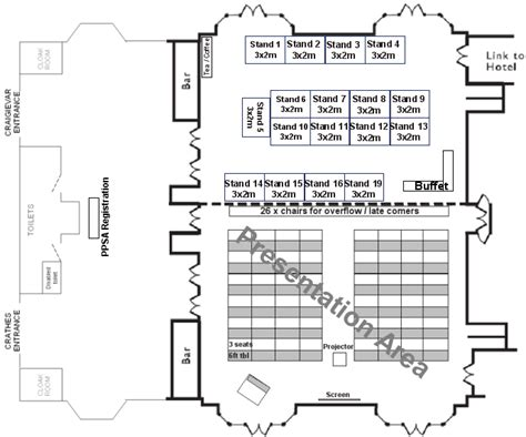 layout of a seminar paper ppsa exhibition stand layout