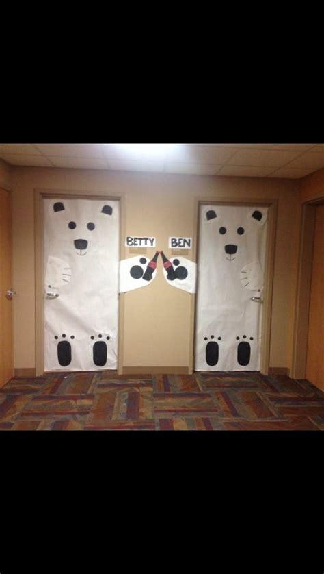 How To Decorate Your Bedroom Door by Room Door Decorations Polarbears Cocacola
