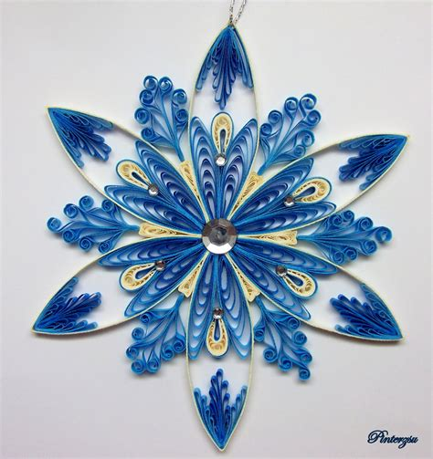 pattern quilling quilled snowflake by pinterzsu deviantart com on