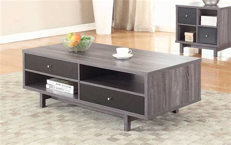 Grey Coffee Table Set by Coaster 705388 Occasional Coffee Table Set Antique Grey