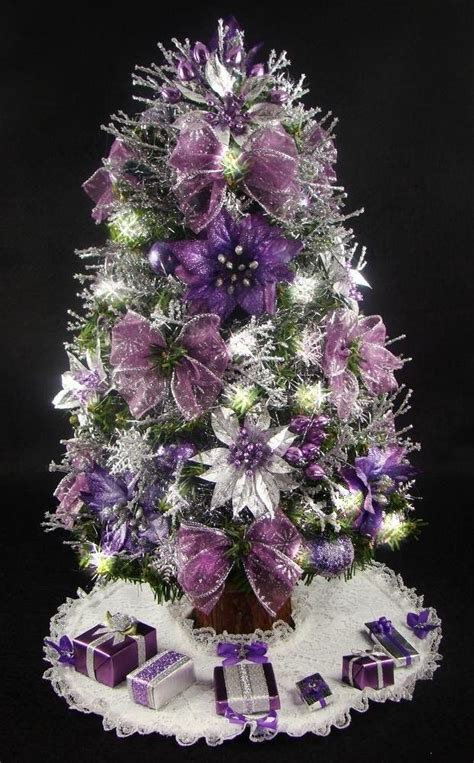 christmas tree decorations purple christmas decorating