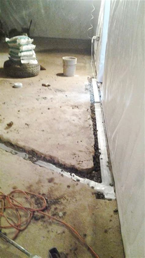 leaking basement floor quality 1st basement systems basement waterproofing