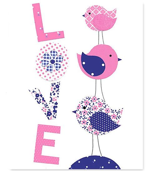 Pink And Navy Nursery Decor Pink And Navy Bird Nursery Fuschia Pink S Nursery Decor Print Toddler Decor