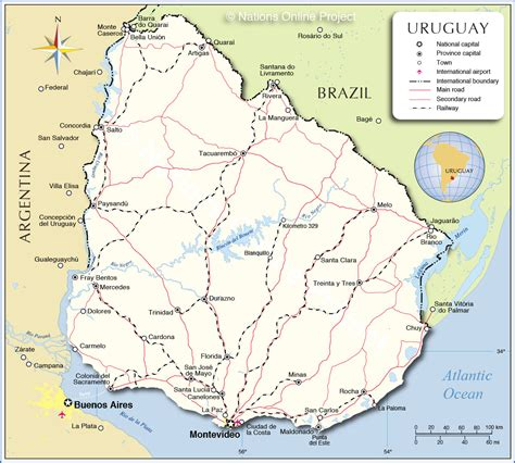 map of uruguay with cities phillips in uruguay third area san carlos