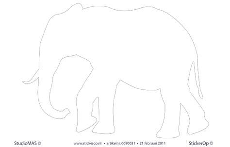muurstickers kleurige vulling olifant