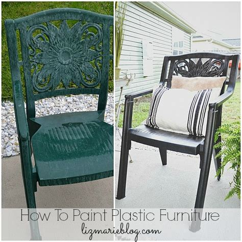 Best Spray Paint For Plastic Chairs - how to paint plastic furniture a makeover liz