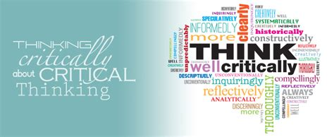 thinking critically year of critical thinking uncw