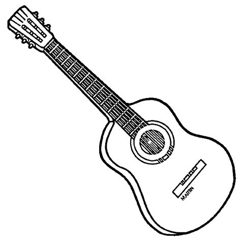 acoustic guitar coloring page coloring pages guitar coloring home