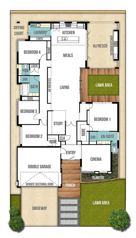 Home Design Drafting Perth House Design Plans | single storey floor plan with space quot the moore quot boyd