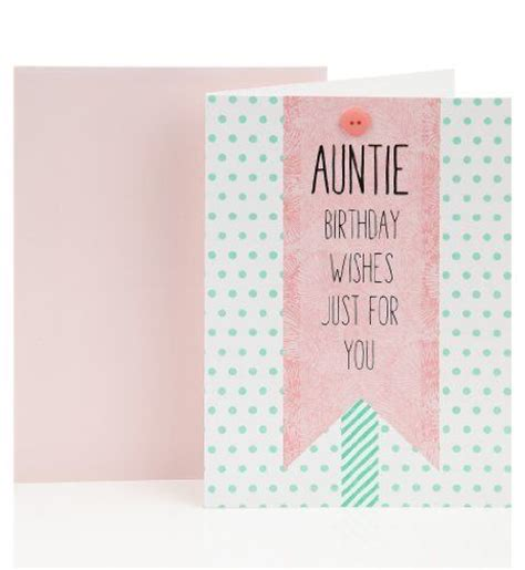 Marks And Spencer Anniversary Gift Card - green spotty auntie birthday greetings card marks spencer birthday card ideas