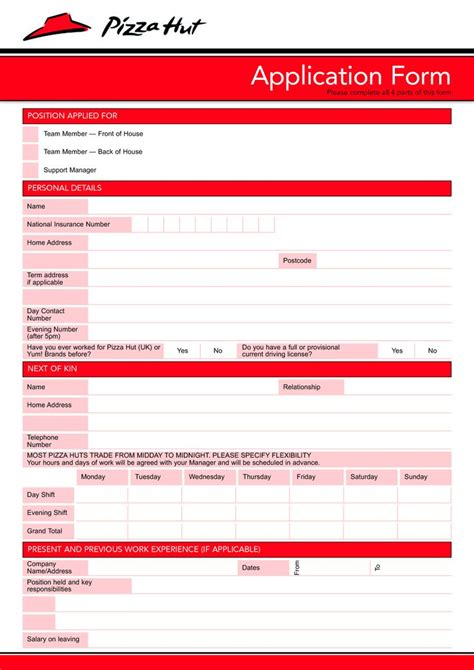 pizza hut application form 50 best images about slp stuff on therapy