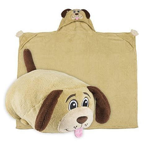 Stuffed Animal Pillow Blanket by Blanket Huggable Hooded Plush Pillows Playmate Child