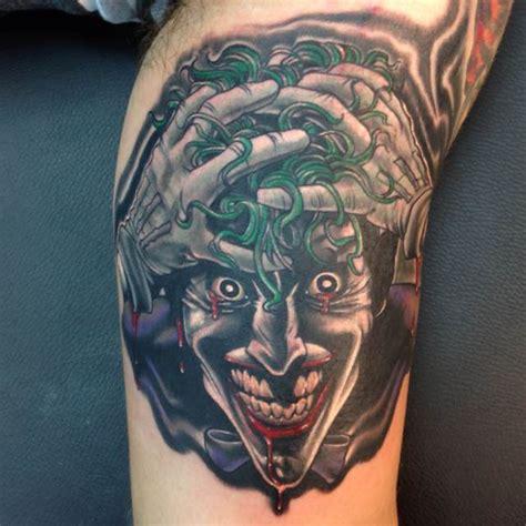 joker tattoo on biceps 38 batman joker tattoos